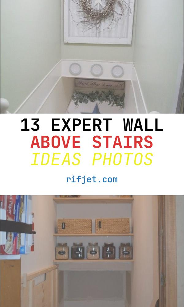 Wall Above Stairs Ideas Awesome Excellent Use Of Stairway Space Decorating Use Chair Rail