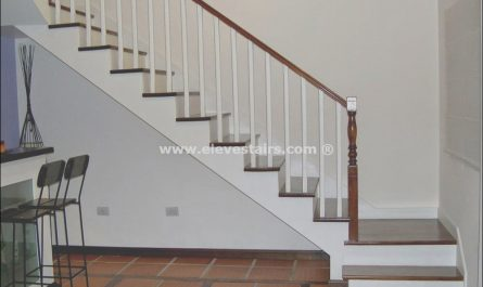 Wooden Staircase Gfi Fresh Hardwood Floor Open Tread Landing How Should This Look