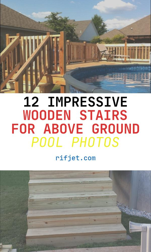 Wooden Stairs for Above Ground Pool New 16 Stylish Outdoor the Ground Swimming Pools