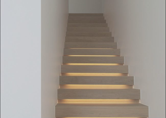14 Fancy Wooden Stairs with Lights Photography
