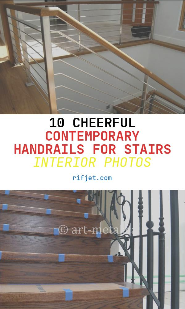 10 Cheerful Contemporary Handrails for Stairs Interior Photos