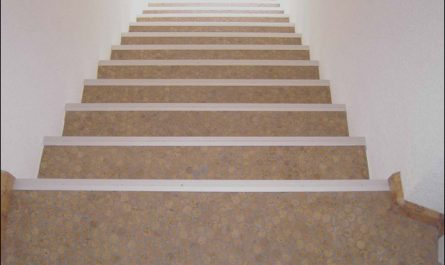 Contemporary Stairs Cork Luxury Cork Mosaic Floor Tiles Modern Staircase Hawaii by