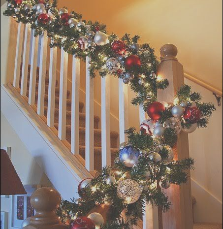 4 original Decorating Stairs at Christmas Photos