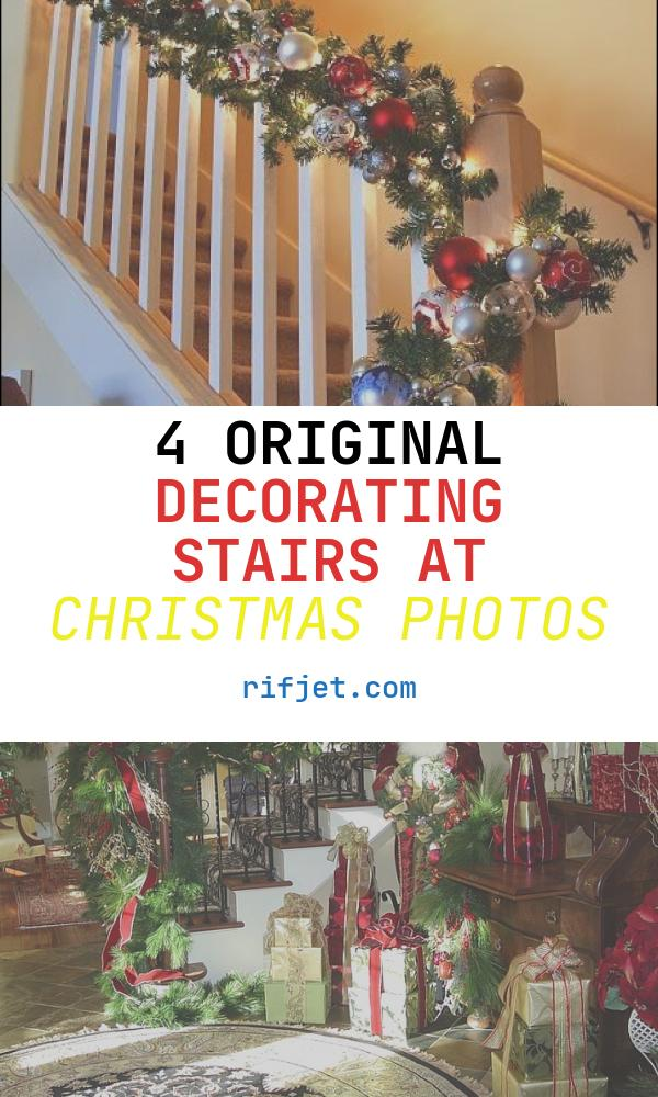 """Decorating Stairs at Christmas Fresh """"the Stockings Were Hung """" Part 1"""