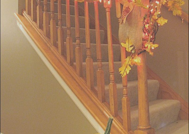 11 Cheap Fall Stairs Decor Collection