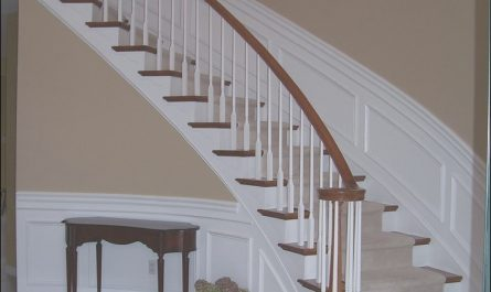 Ideas Of Stairs Awesome Wainscoting Along Curved Stairs
