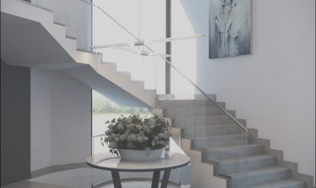Modern Concrete Stairs Design Indoor Awesome Modern L Shaped Staircase with Glass Railing and Gray