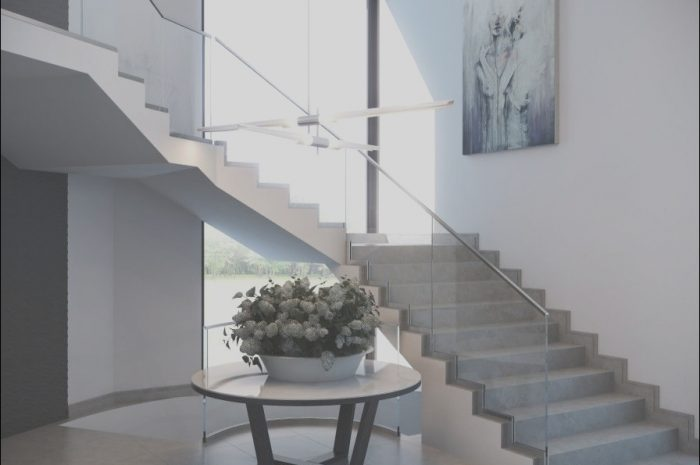 15 Lovely Modern Concrete Stairs Design Indoor Photos