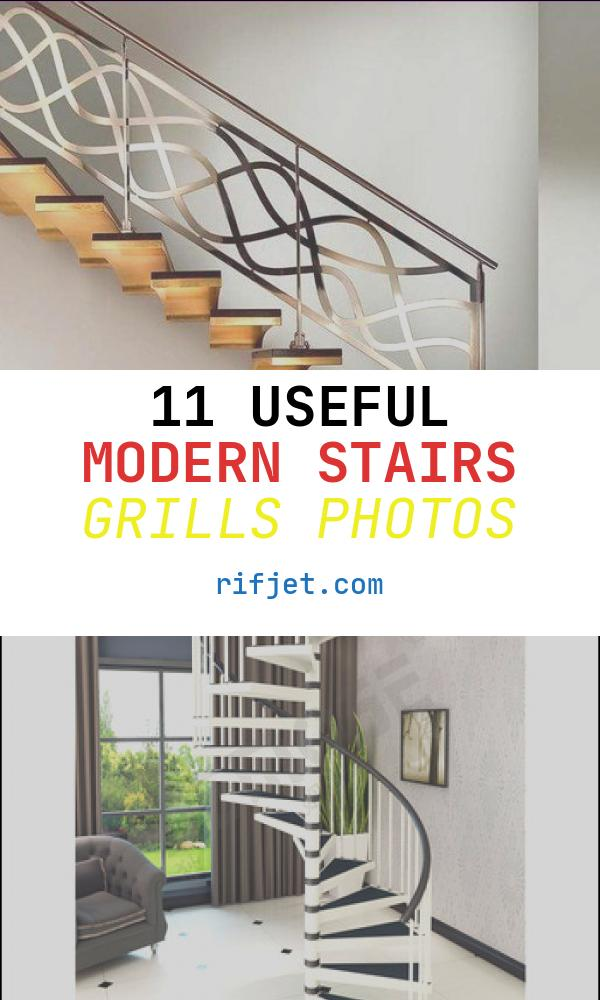 11 Useful Modern Stairs Grills Photos