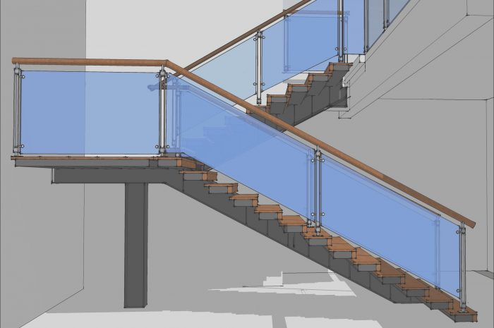 9 Awesome Modern Stairs Sketchup Images