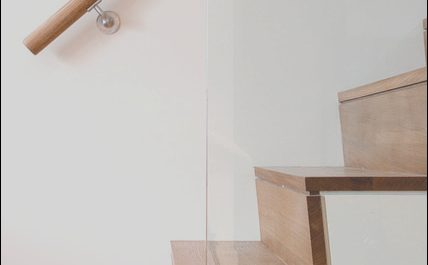 Modern Stairs Tread Awesome Raked Stair Tread Modern Staircase by