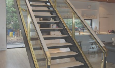 Modern Stairs with Glass Sides Awesome Staircase Built Out Of Blackened Steel Brass and Glass