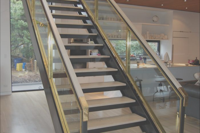 12 Typical Modern Stairs with Glass Sides Image