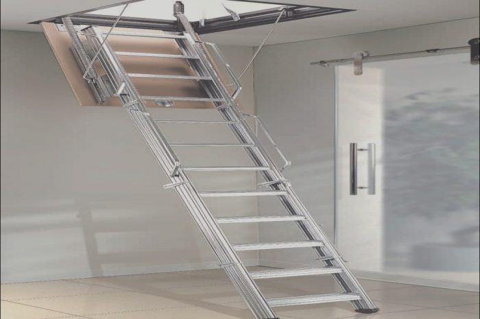 12 Advanced Retractable Stairs Garage Stock