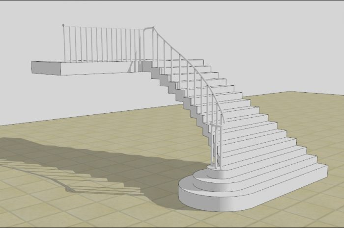 8 Pleasing Sketchup Stairs Interior Build Images