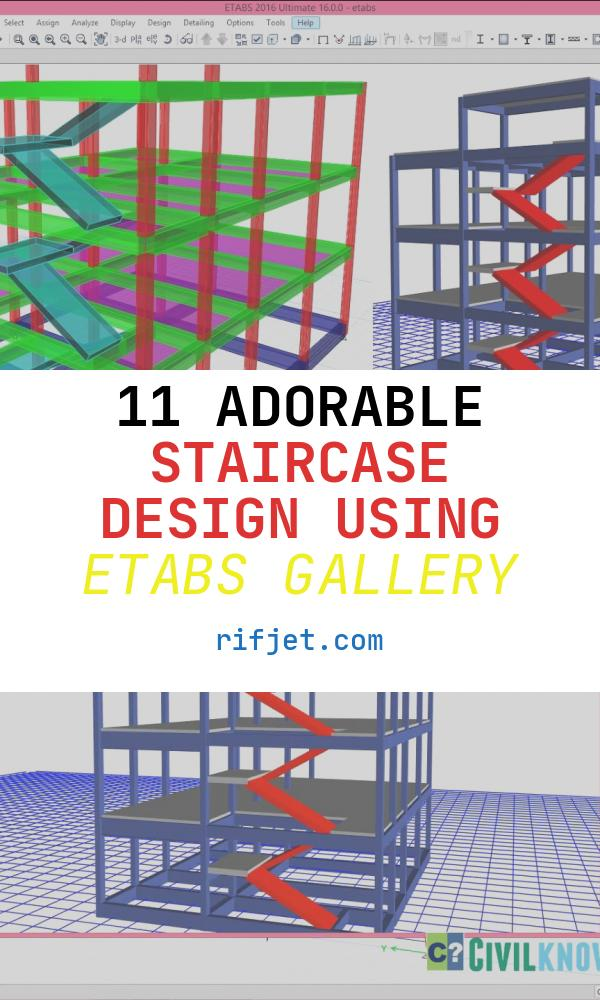 Staircase Design Using Etabs Awesome Modelling Staircase In Etabs 2016 [beginners Tutorial