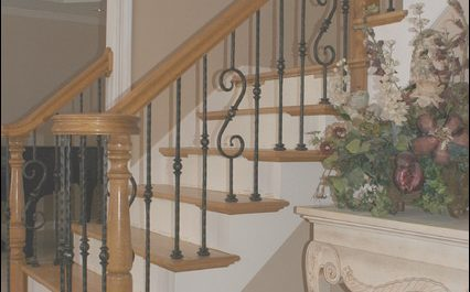Staircase Upgrade Design Lovely Wrought Iron Baluster Upgrade