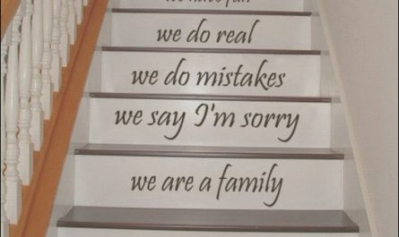 Stairs Arsitag Quotes Luxury Stair Decals Quotes Stairway Decals Quote We are A Family In