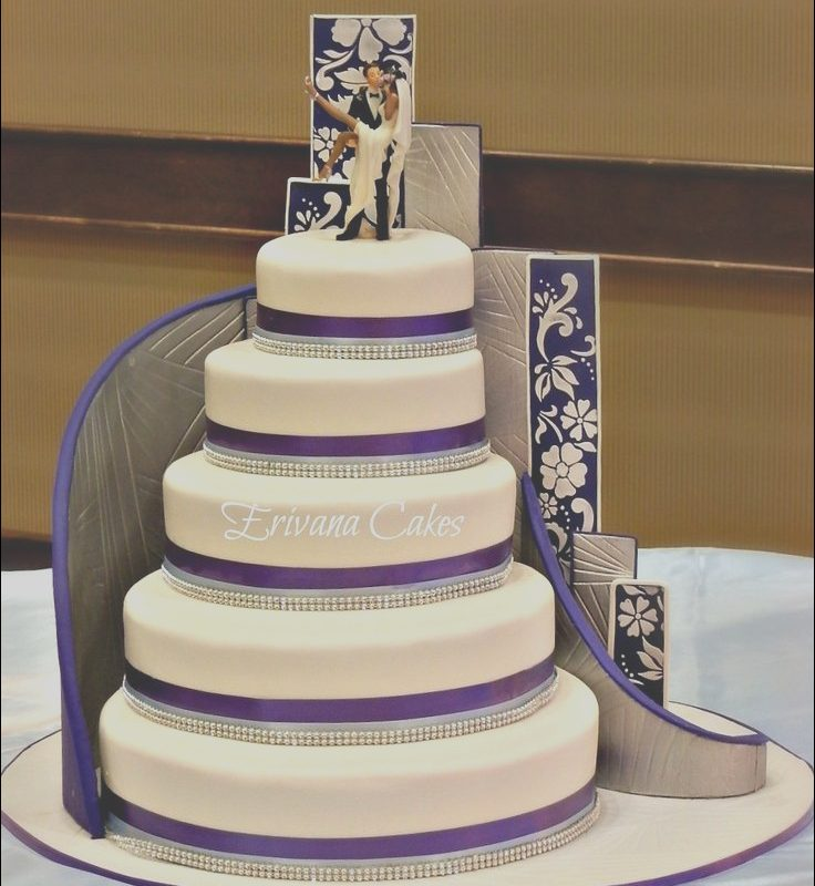 Stairs Cake Designs Awesome Stairs Wedding Cake buttercream Pinterest