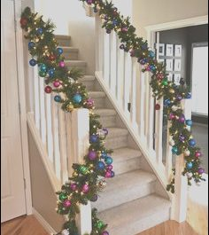 Stairs Modern Xmas Inspirational 83 Best Christmas Stairs Decorating Images