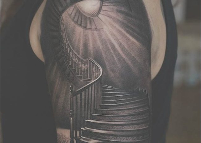 8 Advanced Stairs Tattoo Ideas Image