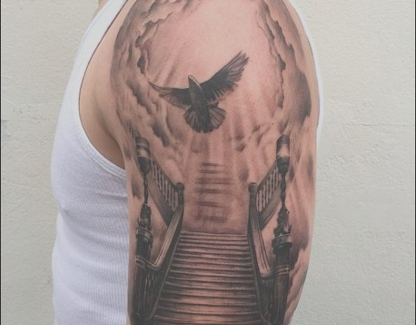 11 Primary Stairs to Heaven Tattoo Design Images