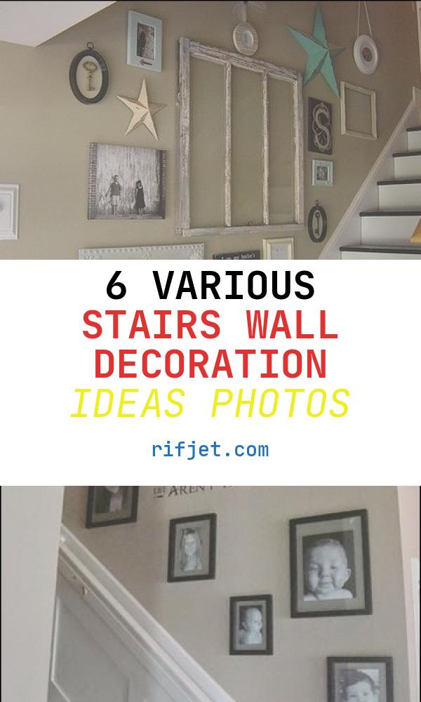6 Various Stairs Wall Decoration Ideas Photos
