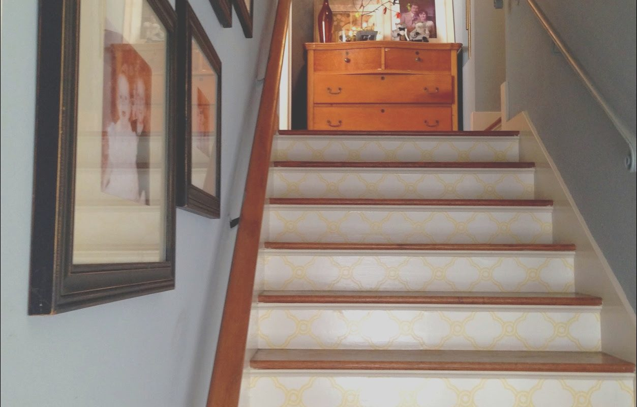 Stairs Wallpaper Designs Inspirational How to Wallpaper Stair Risers