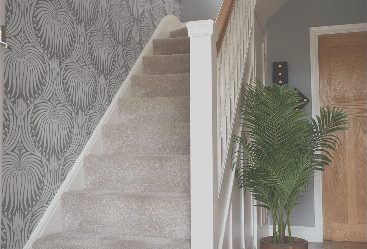 Stairs Wallpaper Ideas Uk Inspirational Hallway Renovation before and after Caradise