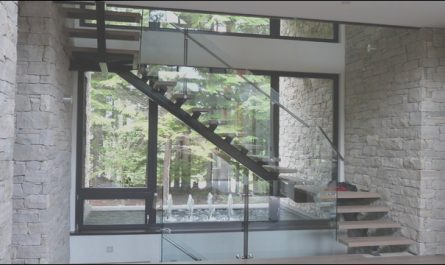 Stairs Window Glass Design Elegant Stair Case Contemporary Staircase Vancouver by