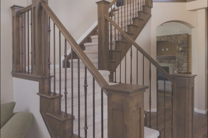 7 Natural Stairs Wooden Railing Designs Photos