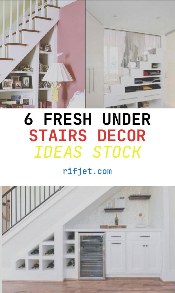 6 Fresh Under Stairs Decor Ideas Stock