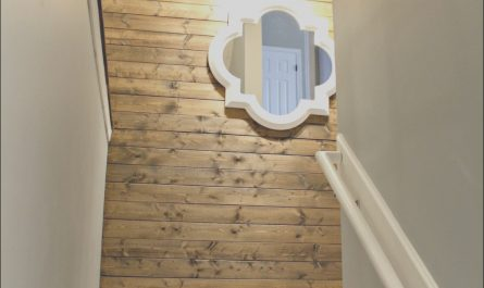 Wall Stairs Decor New My New Favorite Wood Planked Wall From Thrifty Decor Chick