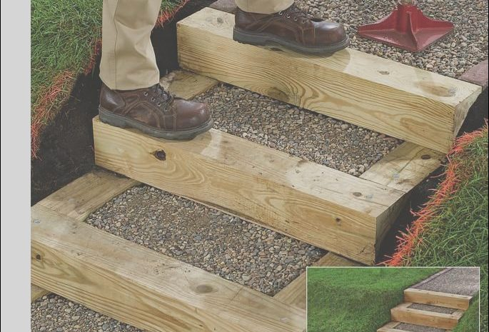 8 Quoet Wooden Garden Stairs Ideas Stock