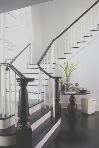 black and white staircases