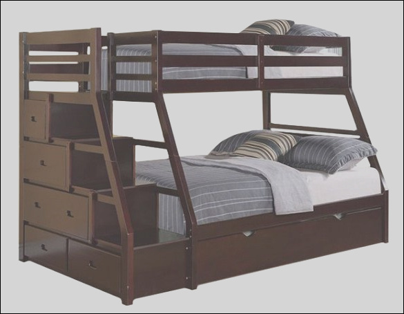 bunk beds with stairs espresso twin