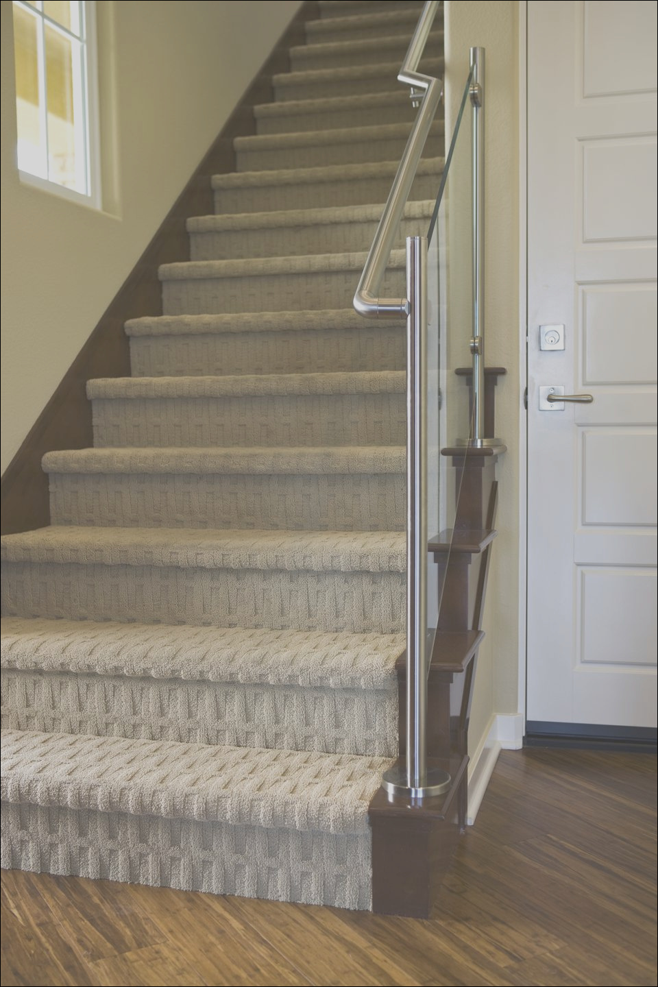 modern carpeted staircases