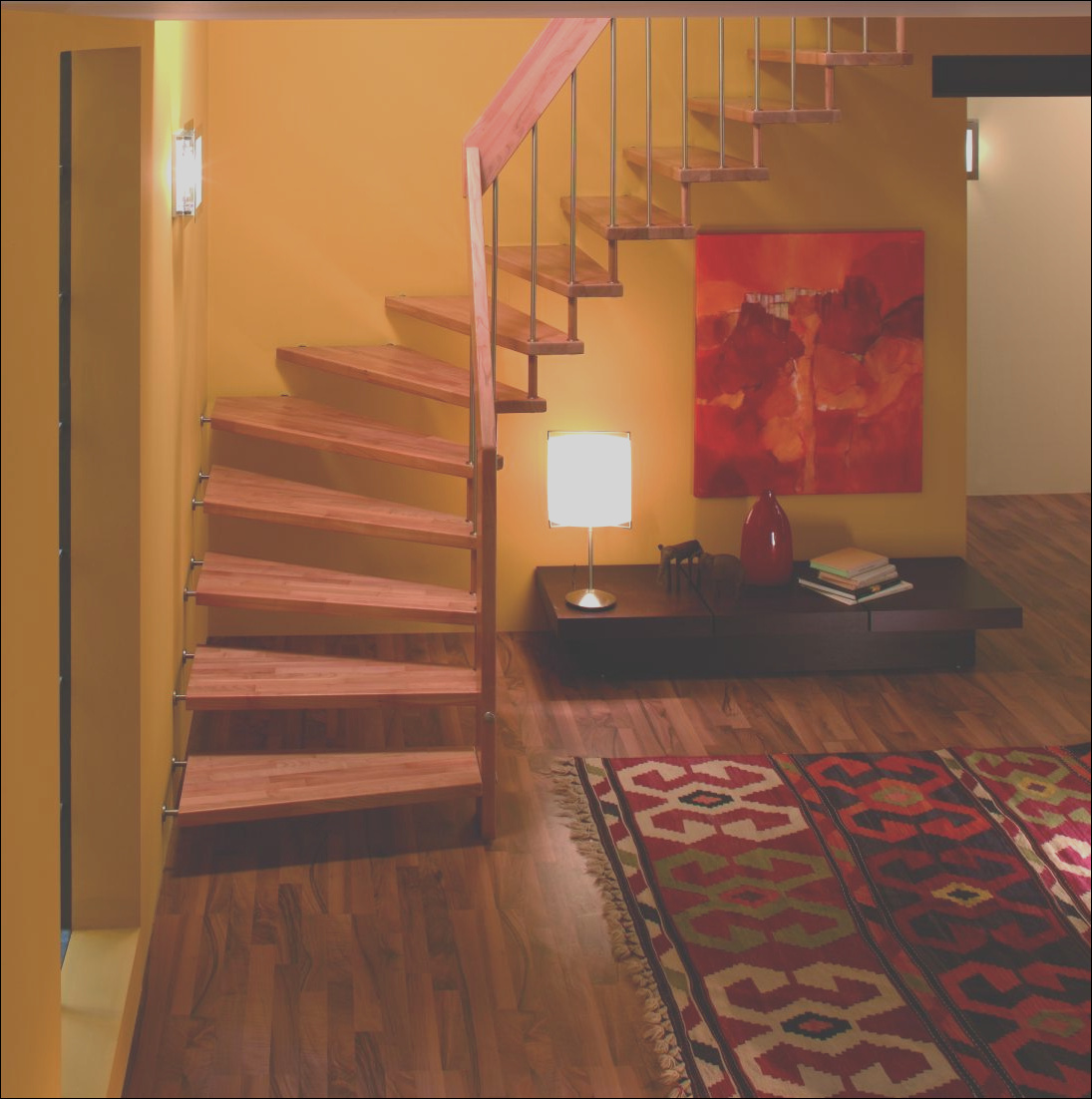 staircase decorating ideas with modern