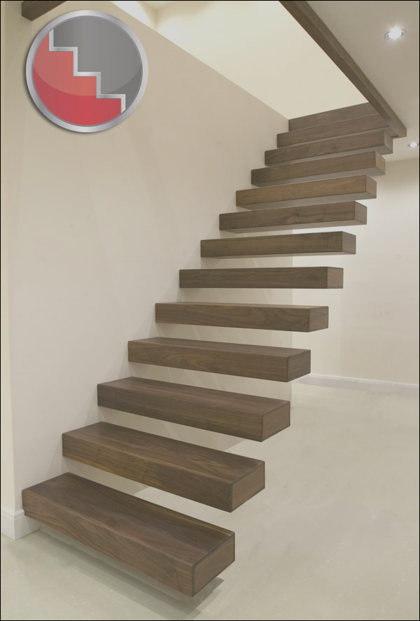 floating staircases walnut