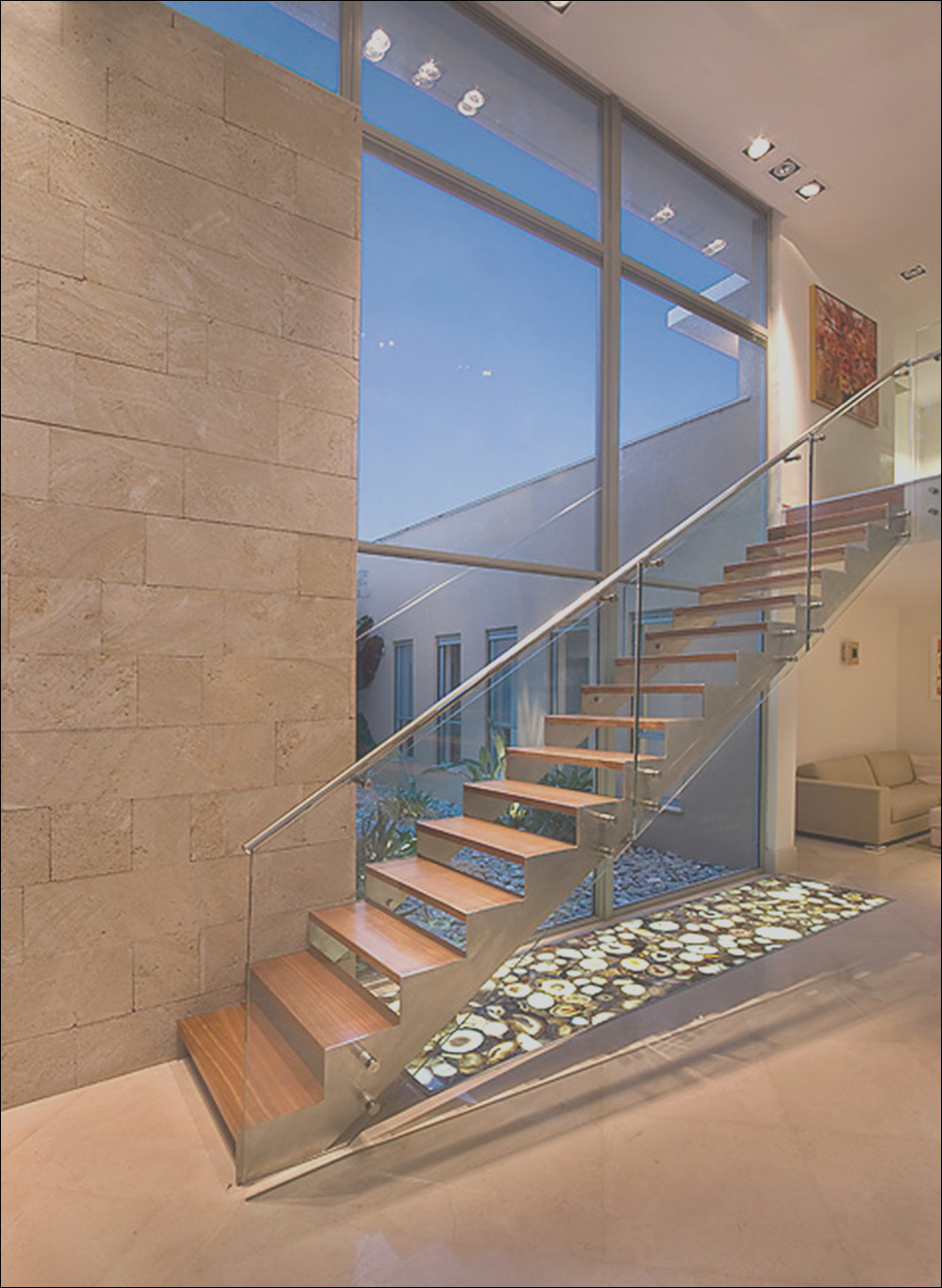 modern and exquisite floating staircase