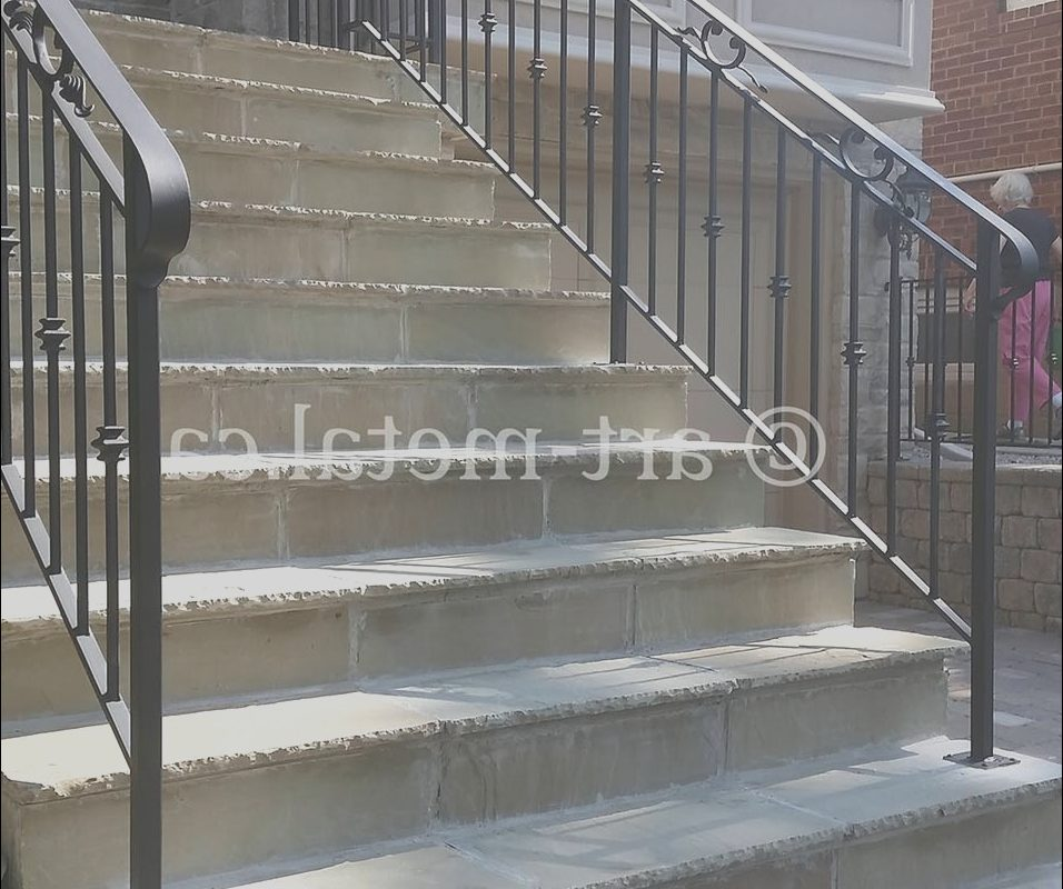 Handrail Ideas for Exterior Stairs Luxury Exterior Stair Handrail Code for Construction In Tario