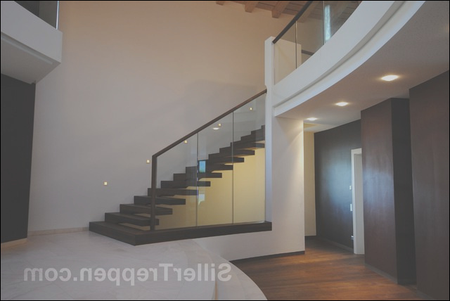cantilevered staircase Villa Italy modern staircase other