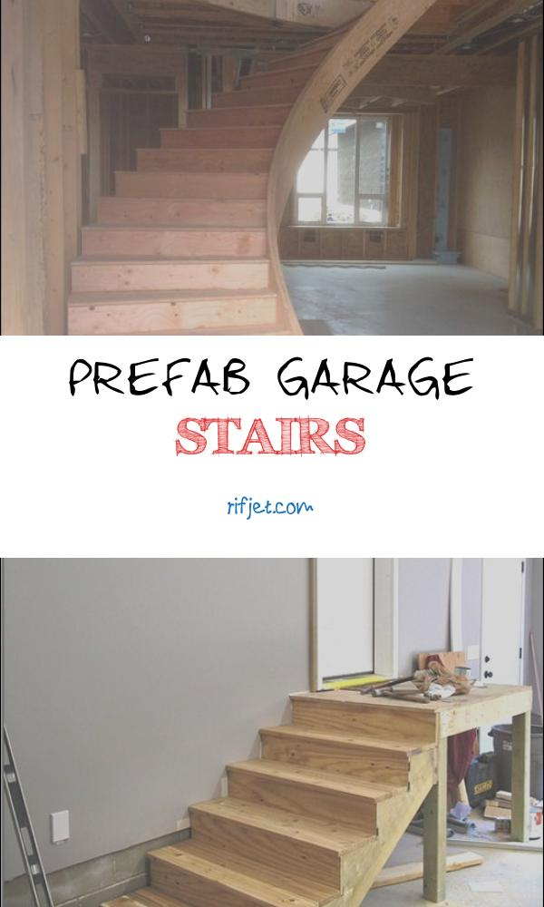 Prefab Garage Stairs Beautiful Construction Grade Curved Prefab Stair Install