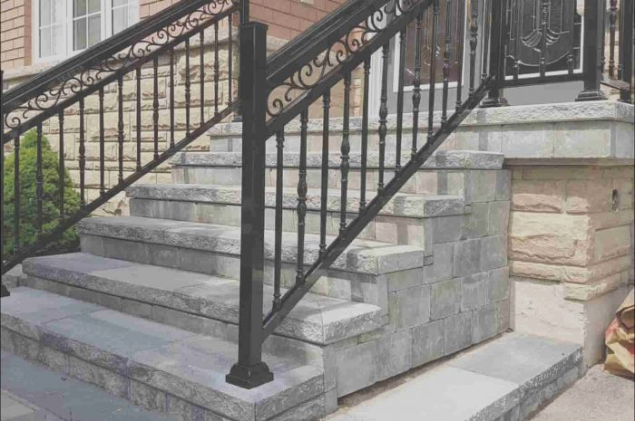 13 Newest Railings for Outdoor Stairs Ideas Photos