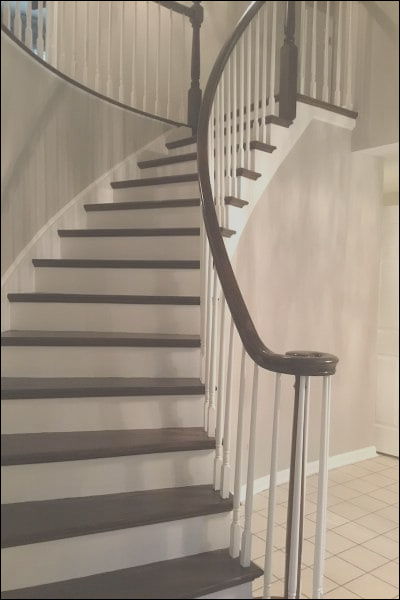 refinishing hardwood stairs before after stair remodel ideas