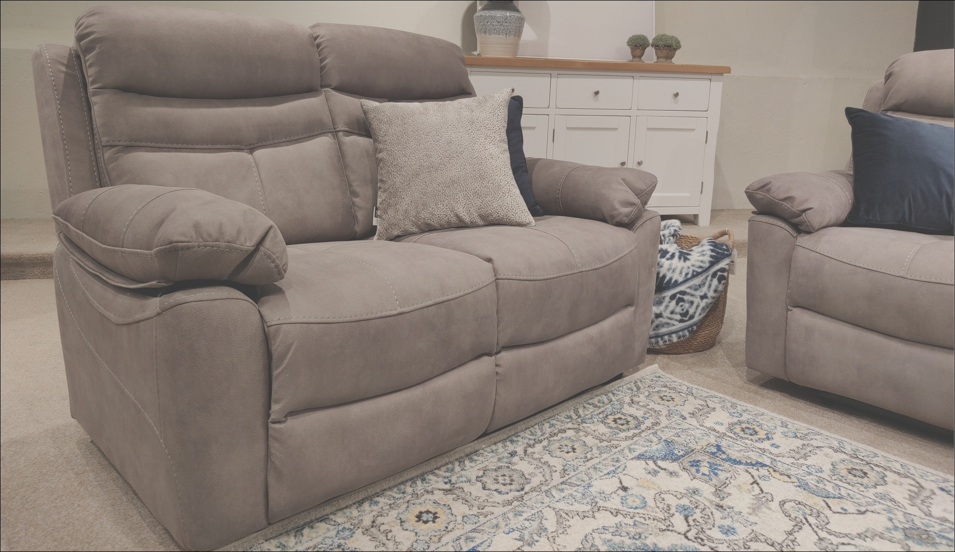 lucy 2 seater sofa grey