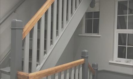 Stairs and Landing Ideas Grey Elegant Stairs and Landing In Farrow and Ball Plummet and