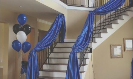Stairs Decoration Ideas for Party Lovely Diy Wedding Crafts Fabric Draped Staircase Banister Idea