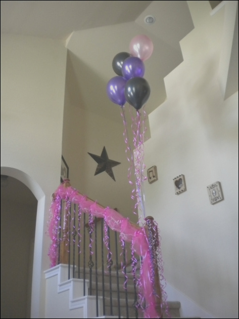 stairs decor for party