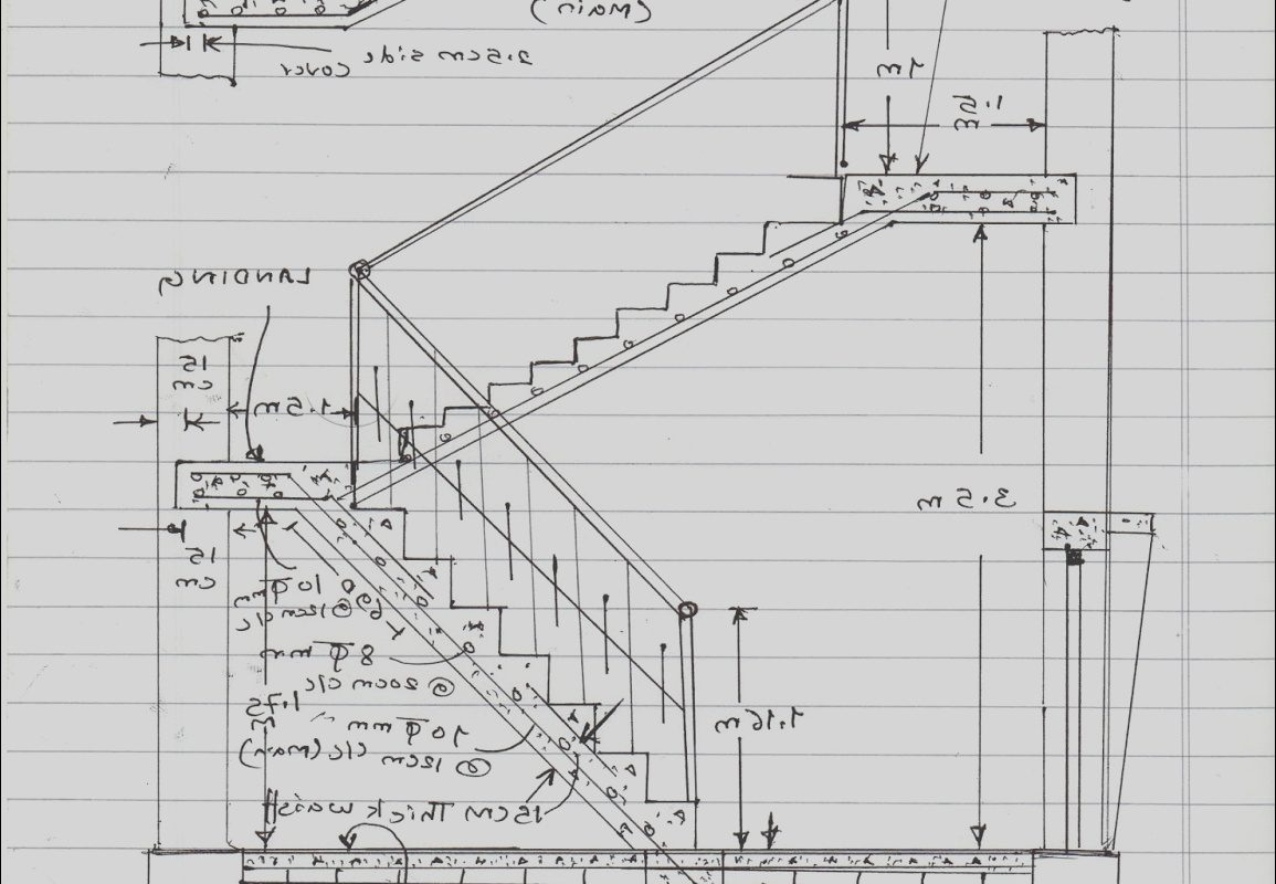 Stairs Design Calculation Unique Civil at Work How to Calculate Staircase Concrete Quantity